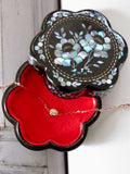 Floral Shape Mother of Pearl Lacquer Trinket box