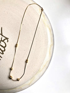 Graduated Bead 18k Gold Plated Necklace