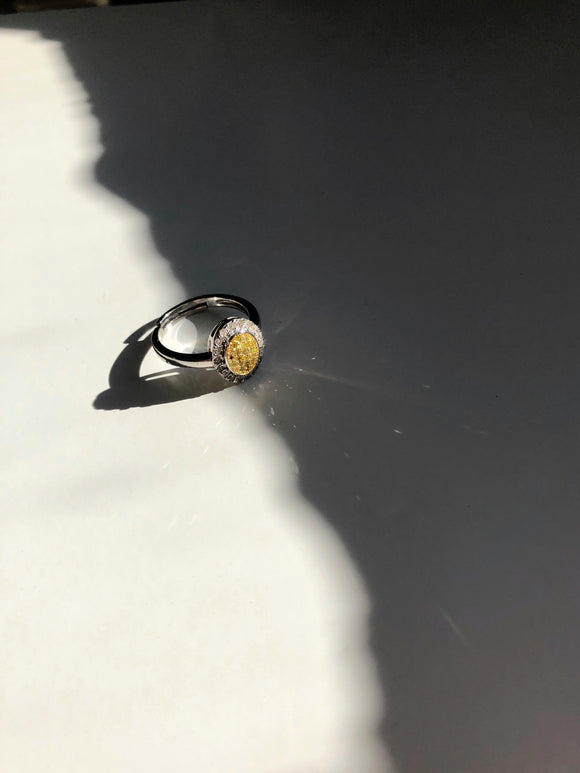 Sun Flower Diamond Adjustable Ring