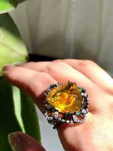 Solar Fluorite Statement Ring