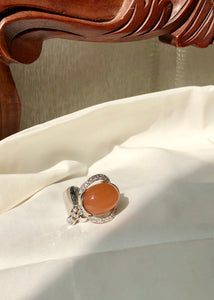 Marjorie Peach Moonstone Ring