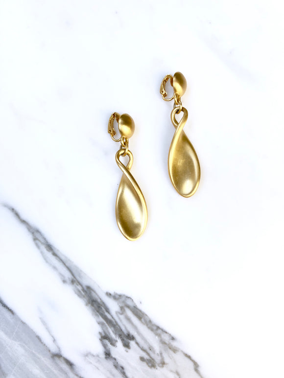Vintage Ralph Lauren Gold Drop Earrings