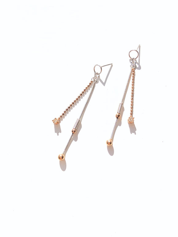 Shimmer Linear Diamond Earrings