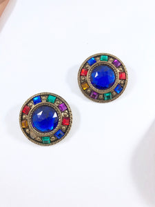 Vintage 80s Art Deco Jewels Earrings