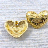 80s Vintage Givenchy Gold Heart Earrings