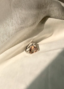 Trillion-Cut Peach Morganite Ring
