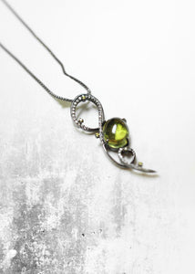 Secret Gardens Lime Tourmaline Necklace