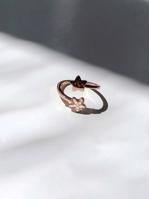 Stardust Rose Gold Adjustable Open Ring