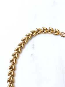 Krementz Ear Of Rice Gold Choker Necklace