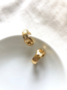 Monet Belt Gold Clip On Earrings