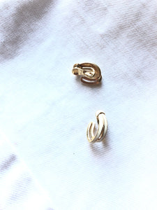 Monet Double Strings White Clip On Earrrings