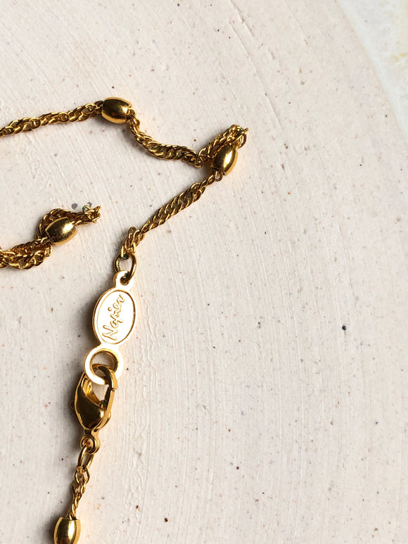 Napier Seperated Bead 14k Gold Necklace