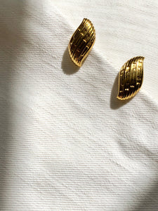 Napier Wave Gold Pierced Earrings