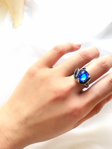 Park lane Blue Gemstone 925 Sterling Silver Statement Ring