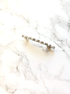 Seperated Pearl Beads Line Alloy Hair Clip Barrette