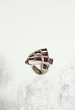 Space Satellite Rhodonite Statement Ring