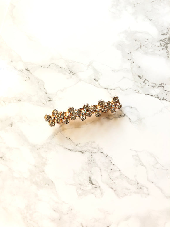 Sparkled Butterflys Rose Gold Plated Hair Clip Barrette