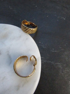Slanted Gold Wide Hoop Earrings