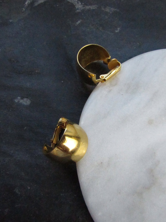 Minimalist Gold Wide Hoop Earrings