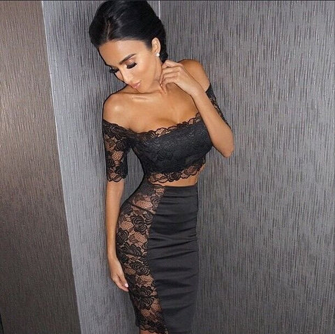 2 Piece Lace Dress