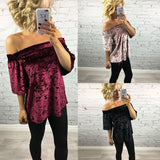 Velvet Season™ Shoulderless Top