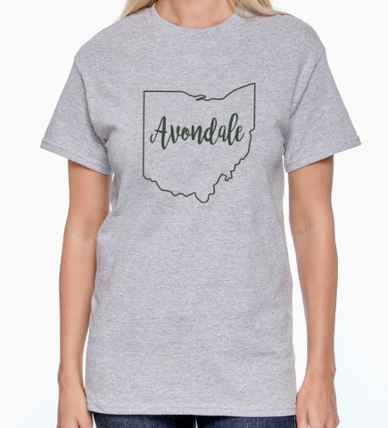 Avondale Ohio Outline Tshirt
