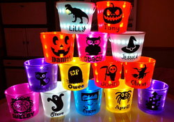 Personalized LED Light Up Halloween Bucket
