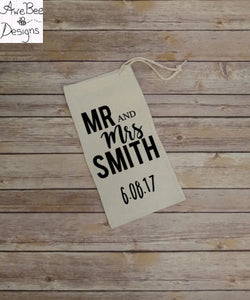 Personalized Mr & Mrs Gift Bag