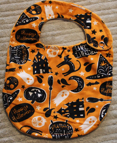 halloween bib or burp cloth