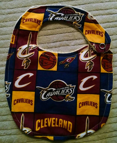Cleveland Cavaliers Basketball Bib or Burp Cloth