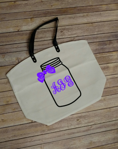 Personalized Mason Jar Bag
