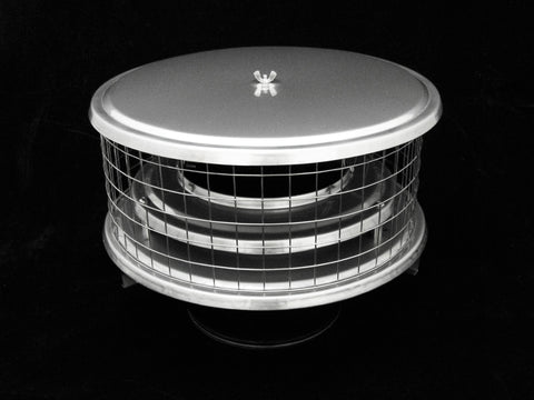 "Air Insulated Caps for Metal Chimneys - 1"" Mesh"