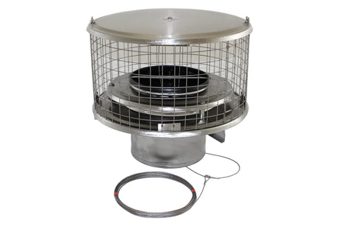 "Round Cap Damper Air Insulated 1/2"" Mesh"