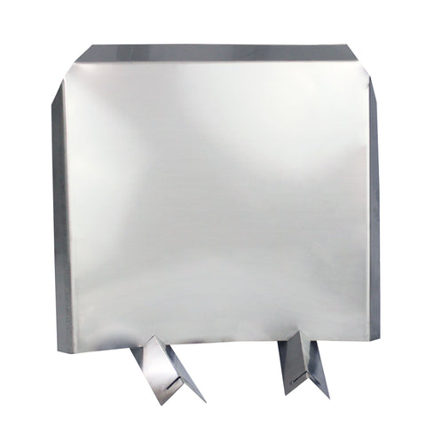"""Heat Reflector / Shield"" Fireback - 304 Stainless Steel"