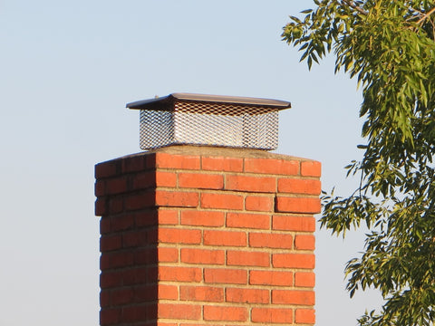"California Universal Chimney Cap - Stainless Steel - 5/8"" Mesh"