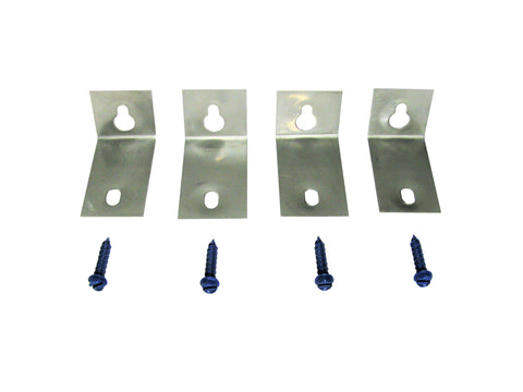 Keyhole Anchors (4 Anchors + 4 Tapcons) - Stainless Steel