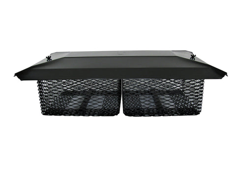 "Multi-Cage Lid - Black Galvanized for 3/4"" Mesh Caps"
