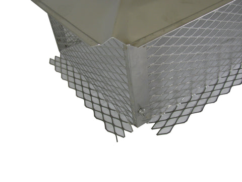 "Multi-Flue Chimney Caps - 304 Stainless Steel *Reversible* - 3/4"" Mesh"