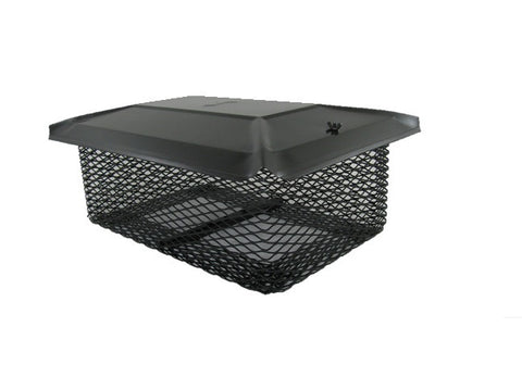 "California Universal Chimney Cap - Black Galvanized - 5/8"" Mesh"