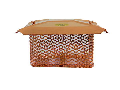 "Universal Chimney Cap for the Midwest and Northeast - Copper - 3/4"" Mesh"
