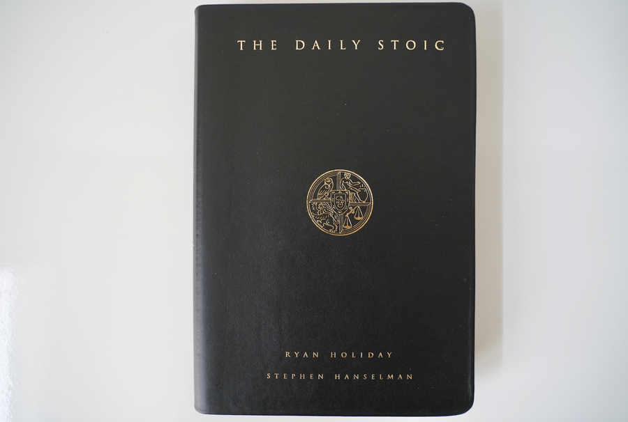 The Daily Stoic (leatherbound signed edition)
