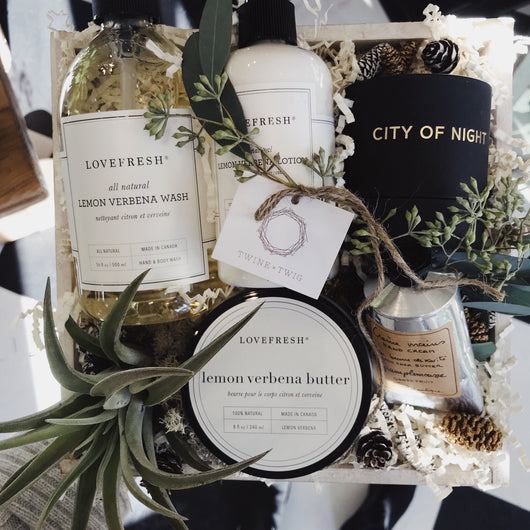 Winter Citrus and Greenery Gift Box