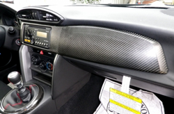 86 CARBON FIBRE GLOVE COMPARTMENT PANEL AND STEREO BEZEL COVER 1