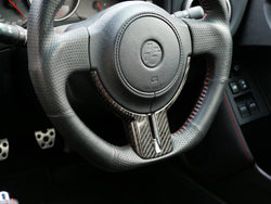 86 CARBON FIBRE STEERING WHEEL COVER 1