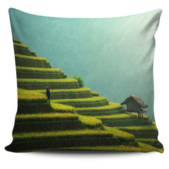 Paddy field Pillow Cover