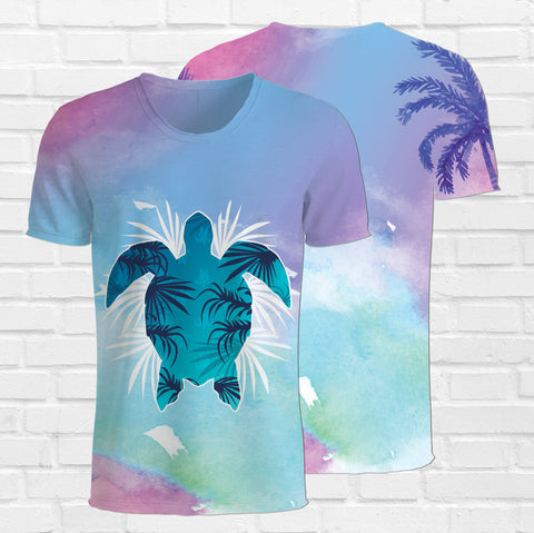 Colorful Sea Turtle Shirt. Sea Turtle 3d T-Shirt