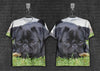 Image of Pug black 3d T-Shirt