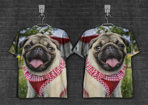 Pug smile Kitty 3d T-Shirt