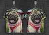 Image of Pug smile Kitty 3d T-Shirt