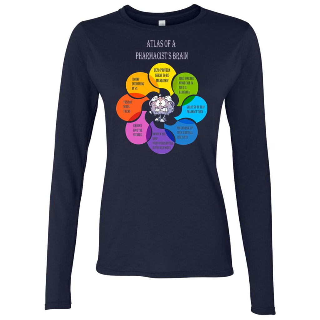 Funny Pharmacist's Brain Women's Long Sleeve